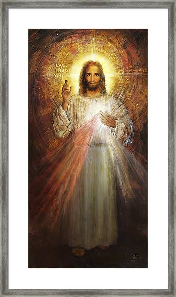 Divine Mercy, Sacred Heart Of Jesus 1 Framed Print