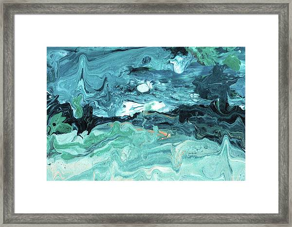 Diving In- Abstract Art By Linda Woods Framed Print
