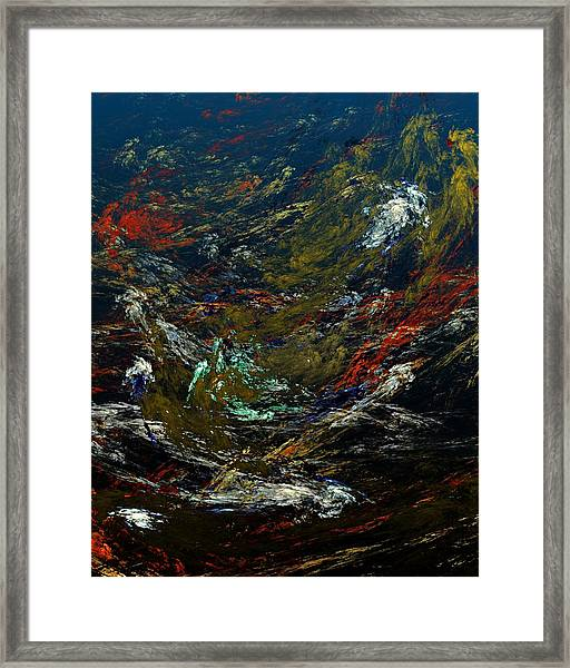 Diving The Reef Series - Sea Floor Abstract Framed Print