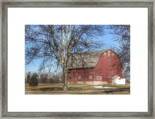 0010 - Dixon Road Red Framed Print