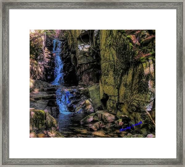 Dixville Notch Flume Brook Framed Print