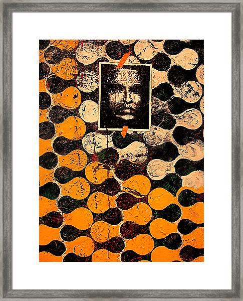 Dna Plus Fingerprints  Framed Print by Teodoro De La Santa