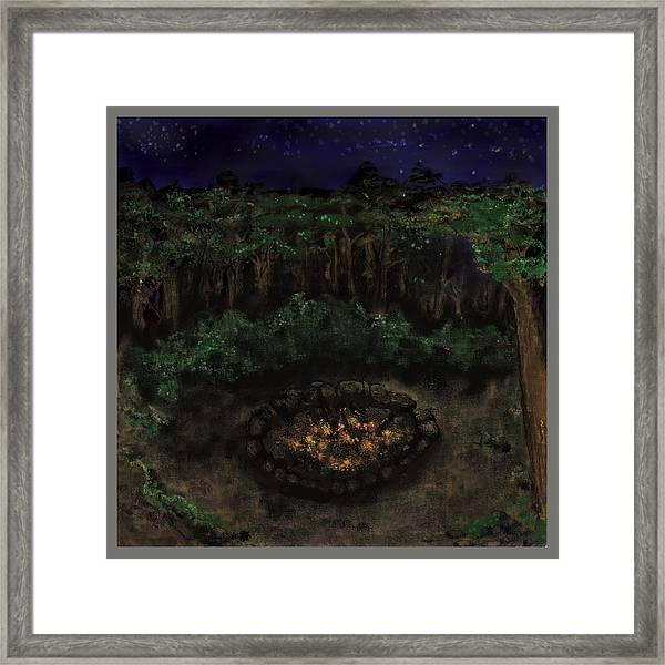 Dancing Naked In The Forest Back Cover Framed Print