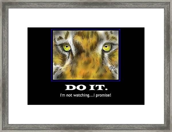 Do It Motivational Framed Print
