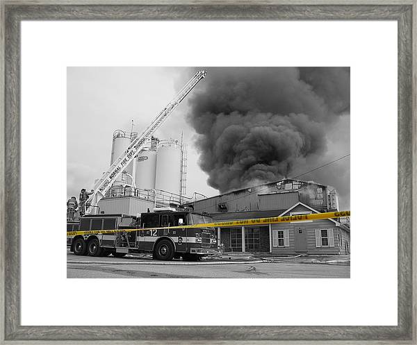 Framed Print featuring the photograph Do Not Cross by Dylan Punke