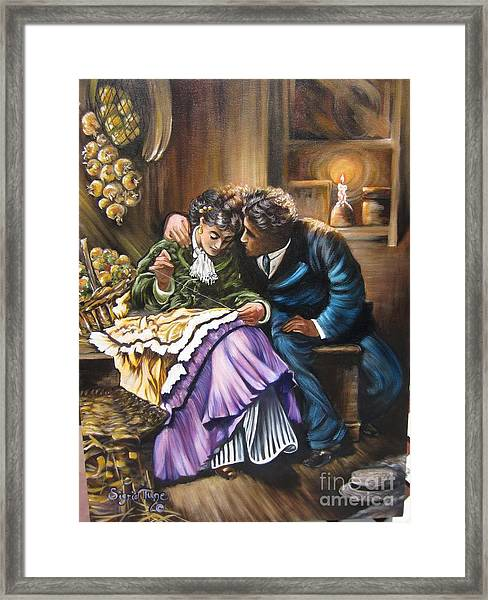 American History    Will You Marry  Me? Framed Print