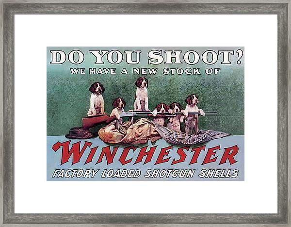 Do You Shoot? Framed Print