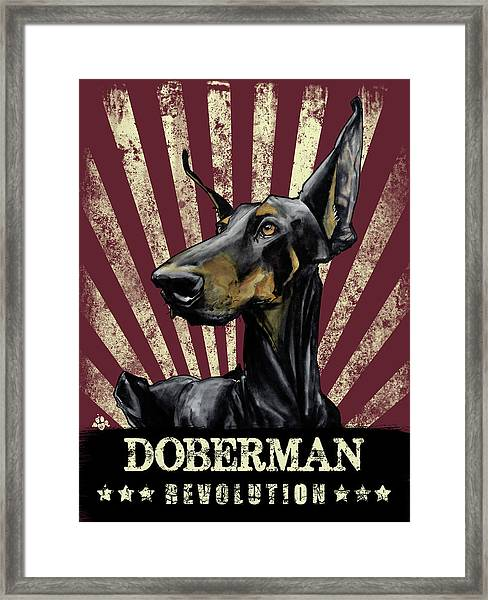 Doberman Revolution Framed Print