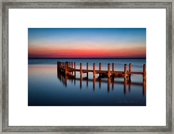 Dock On Currituck Sound 5665 Framed Print