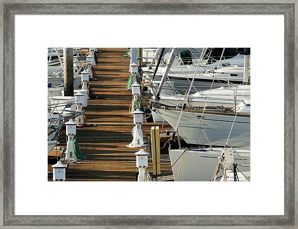 Dock Walk Framed Print