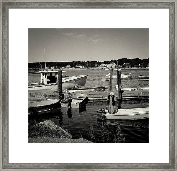 Dock Work Framed Print