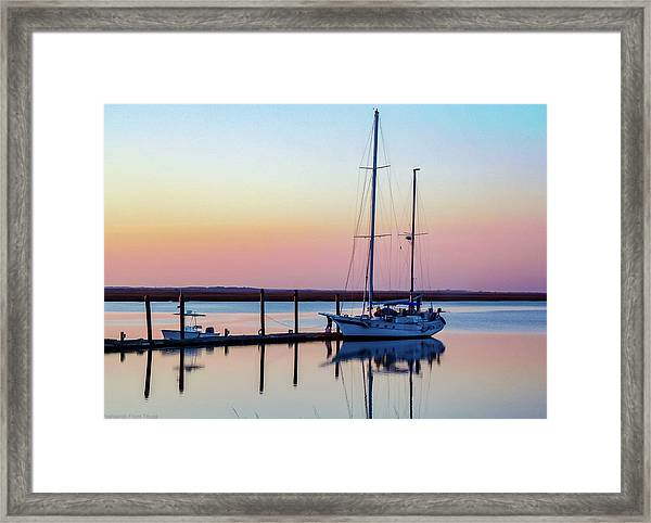 Docked On Jekyll Island Framed Print