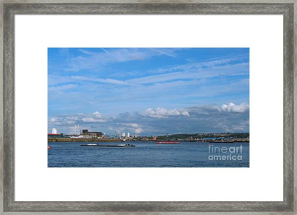 Docklands And Skyline Framed Print