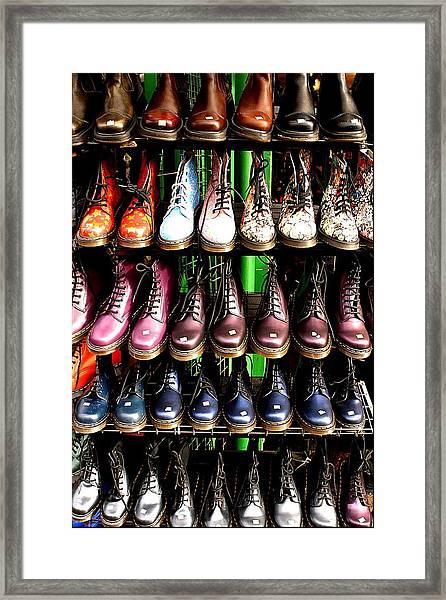 Doctor Martins Foot Emporium Framed Print by Jez C Self