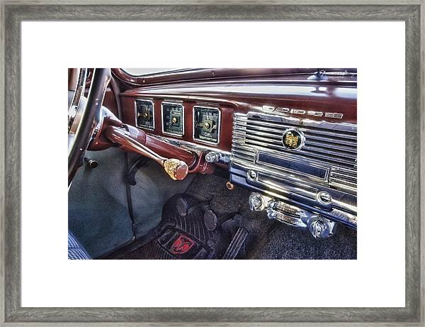 Dodge Dash Framed Print