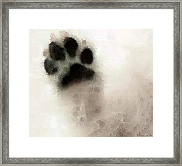 Dog Art - I Paw You Framed Print