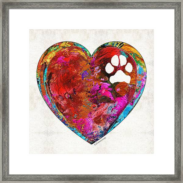 Dog Art - Puppy Love 2 - Sharon Cummings Framed Print