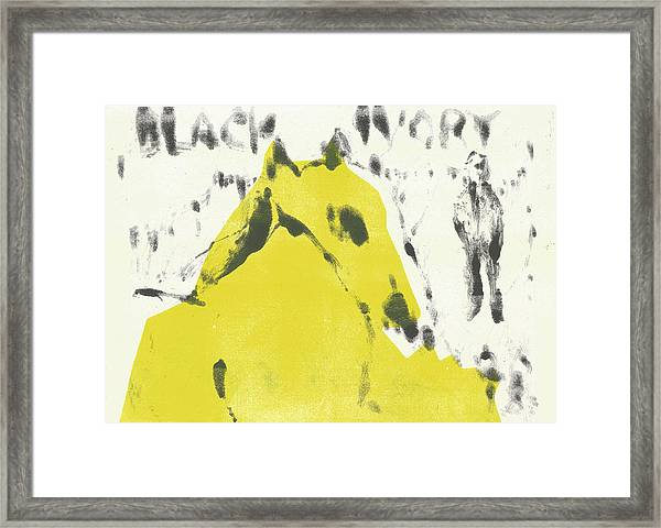 Dog At The Beach - Black Ivory 2 Framed Print