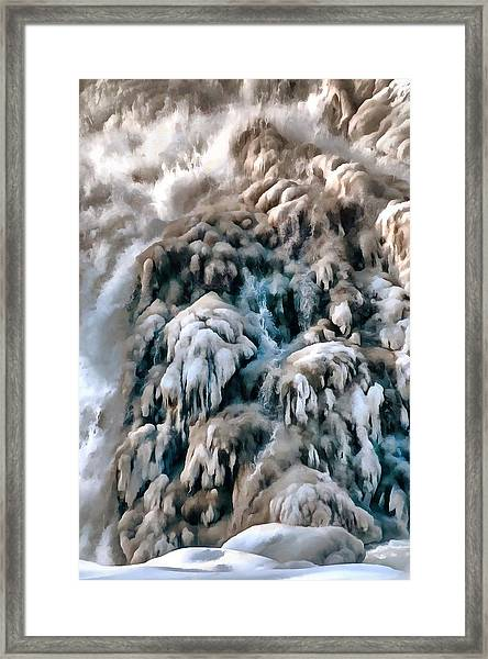 Dog Falls Framed Print