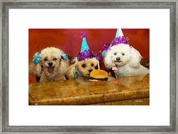 Dog Party Framed Print