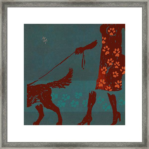 Dog Walker Framed Print