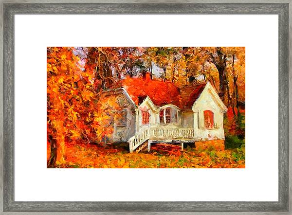 Doll House And Foliage Framed Print