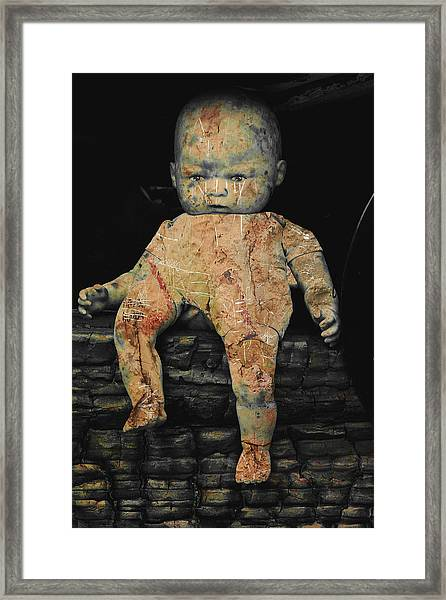 Doll R Framed Print