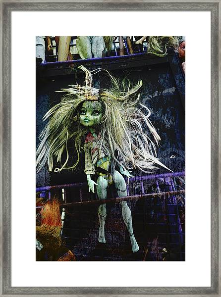 Doll X Framed Print