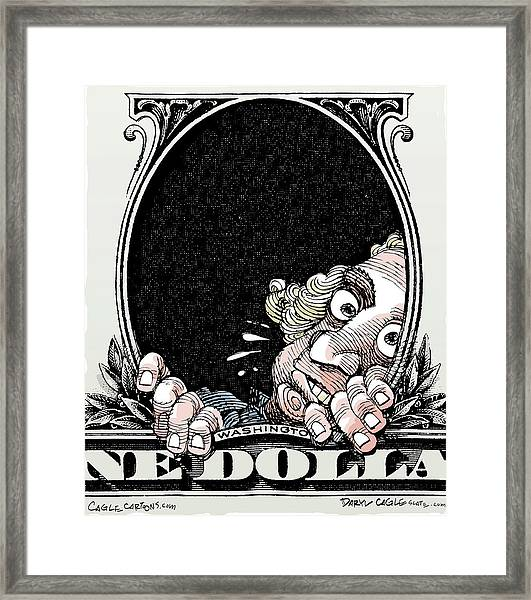 Dollar Fear Framed Print