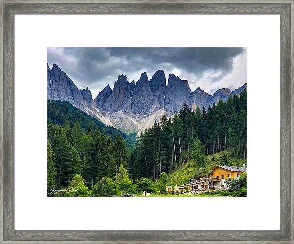 Dolomite Drama Framed Print