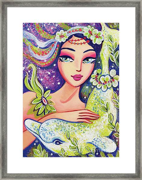 Dolphin Mermaid Framed Print