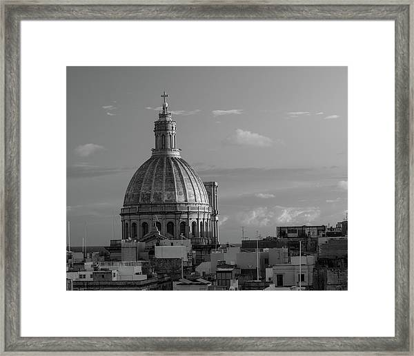 Dome Of Our Lady Of Mount Carmel In Valletta, Malta Framed Print