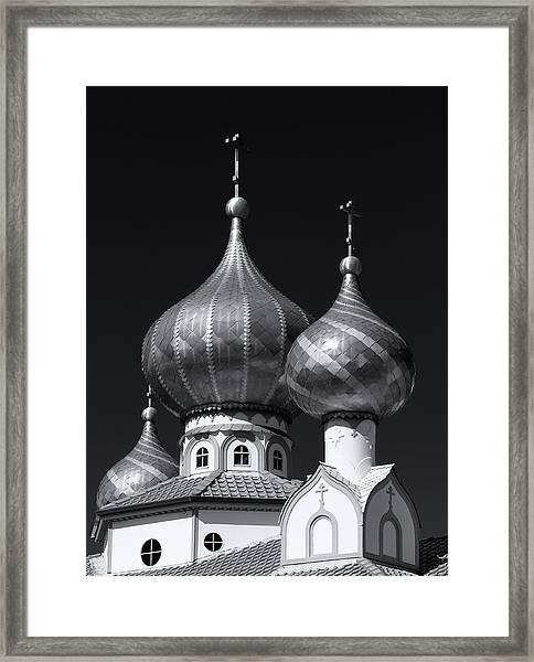 Domes Framed Print