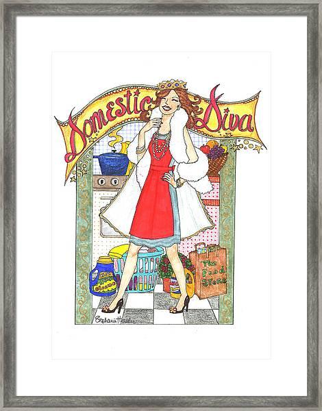 Domestic Diva Framed Print