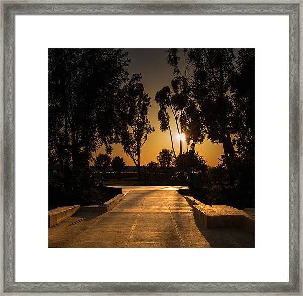 Dominguez Hills Sunset Framed Print