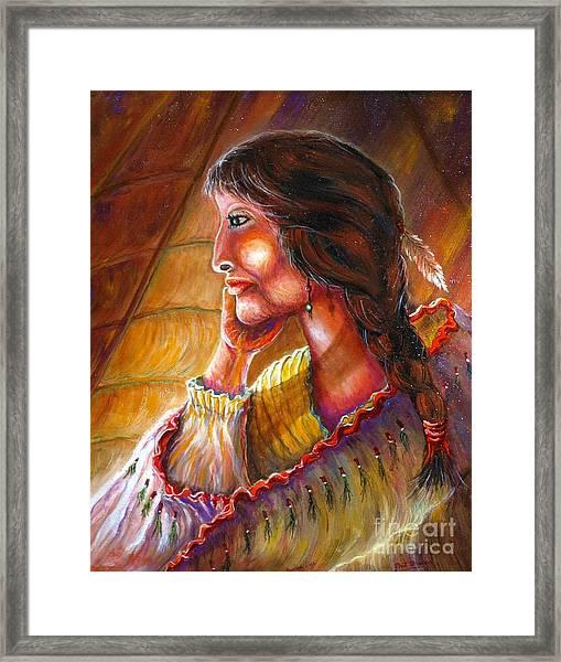 Donna Lisa Framed Print