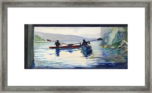 Donner Lake Kayaks Framed Print