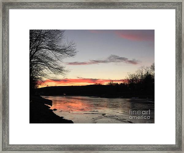 Don't  T 'red' On Thin Ice Framed Print