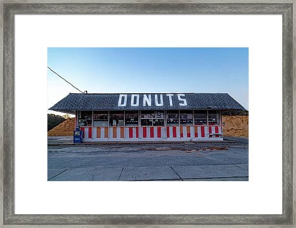 Donut Shop No Longer 3, Niceville, Florida Framed Print