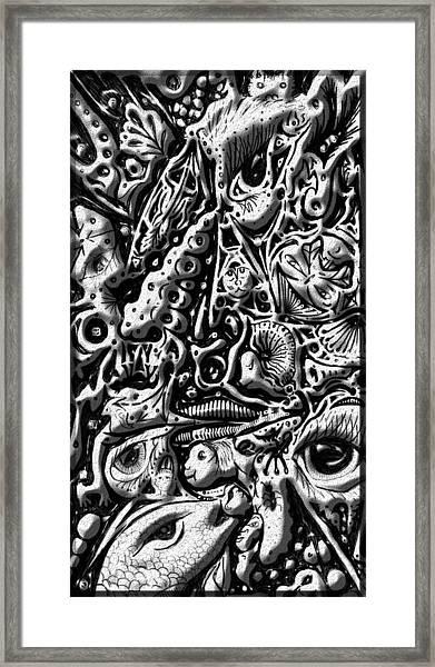 Doodle Emboss Framed Print