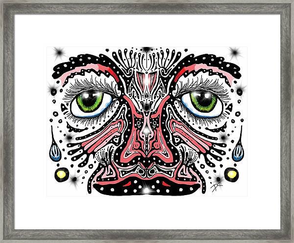 Doodle Face Framed Print