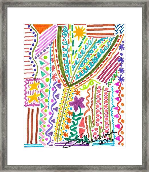 Doodles Gone Wild Framed Print