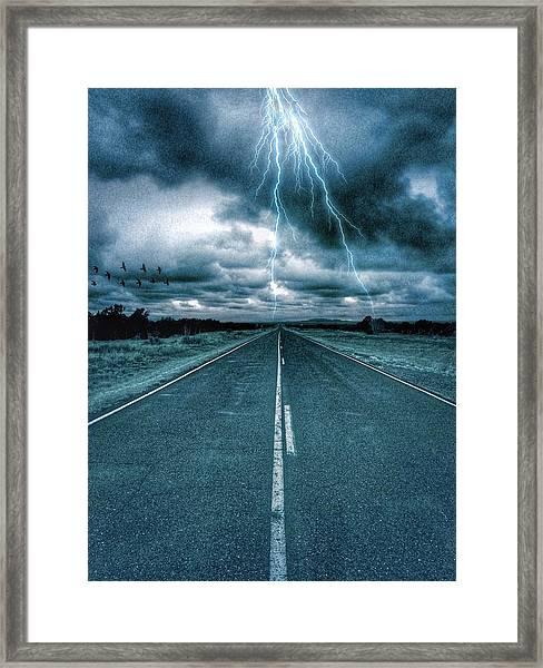Doomsday Road Framed Print