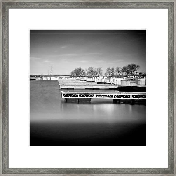 Door County Docks Framed Print