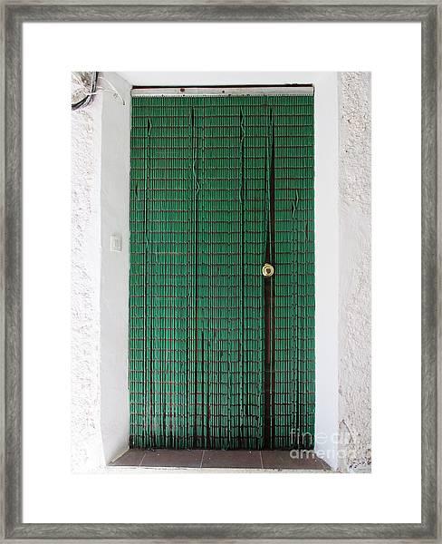 Door In Capilerilla Framed Print