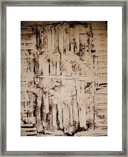 Door Of The Abandoned Barn Framed Print