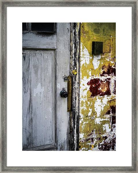 Framed Print featuring the photograph Door by Samuel M Purvis III