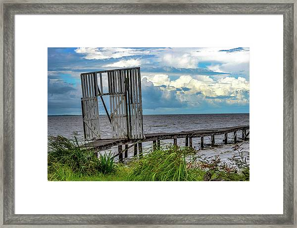 Door To Dock Framed Print