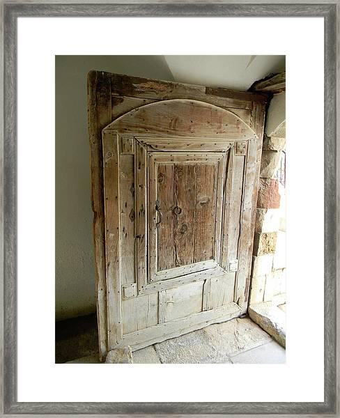 Door To Feudal Times Framed Print