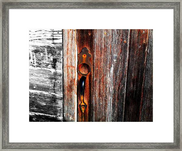 Door To The Past Framed Print